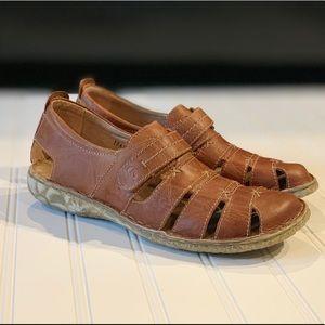 Josef Seibel Leather Fisherman Sandal Size 38